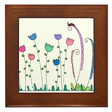 Spring Tulips Flowers Lady Bug Doodle Art Design F