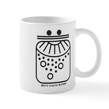 WHITE Crystal WIZARD Mug