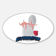 Baitmaster Can of Worms Oval Decal