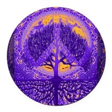 Tranquility Round Car Magnet