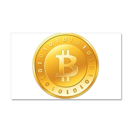 Bitcoins-1 Car Magnet 20 x 12