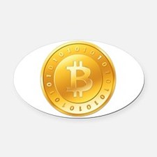 Bitcoins-1 Oval Car Magnet