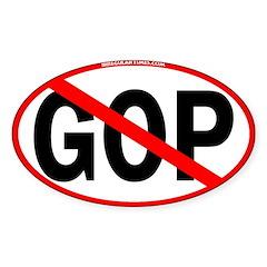 No GOP (Oval Bumper Sticker)