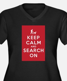 Keep Calm and Search On (Dog Team) Women's Plus Si