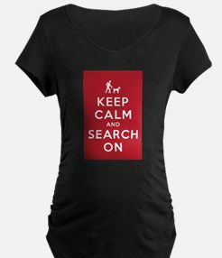 Keep Calm and Search On (Dog Team) T-Shirt
