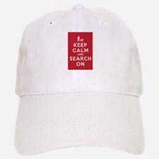 Keep Calm and Search On (Dog Team) Baseball Baseball Cap