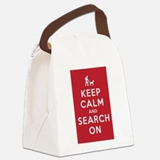 Keep Calm and Search On (Dog Team) Canvas Lunch Ba