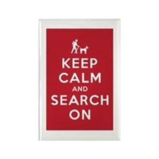 Keep Calm and Search On (Dog Team) Rectangle Magne