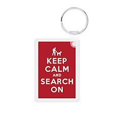 Keep Calm and Search On (Dog Team) Aluminum Photo