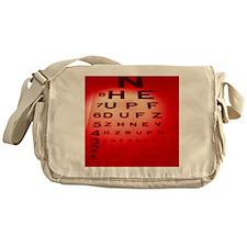 View of a Snellen eye test chart - Messenger Bag