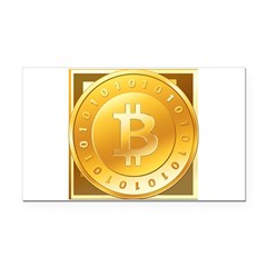 Bitcoins-3 Rectangle Car Magnet