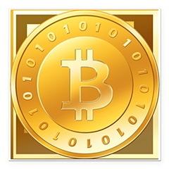 "Bitcoins-3 Square Car Magnet 3"" x 3"""