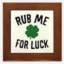 Rub Me For Luck Framed Tile