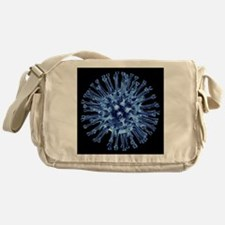 H1N1 flu virus particle, artwork - Messenger Bag