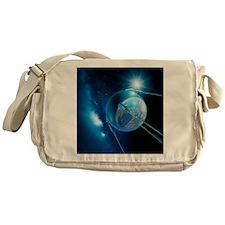 Sputnik 1 satellite - Messenger Bag
