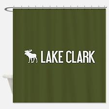 Lake Clark Moose Shower Curtain