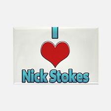 I heart Nick Stokes Rectangle Magnet
