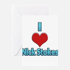 I heart Nick Stokes Greeting Card