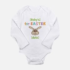 PERSONALIZE 1st Easter Bunny Long Sleeve Infant Bo