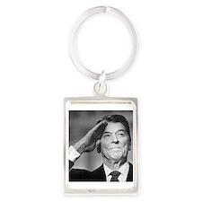 Ronald Reagan Portrait Keychain