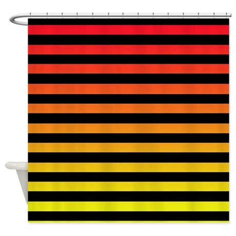 Red Yellow Stripe Shower Curtain By Thehomeshop