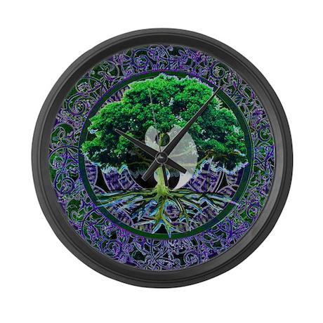 Tree of Life Balance Large Wall Clock