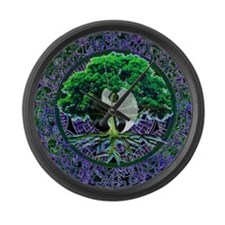 Tree of Life Balance Large Wall Clock