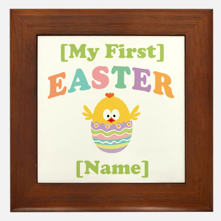 PERSONALIZE Baby's 1st Easter Framed Tile