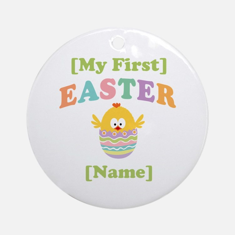 PERSONALIZE Baby's 1st Easter Ornament (Round)