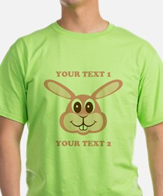 PERSONALIZE Pink Bunny T-Shirt