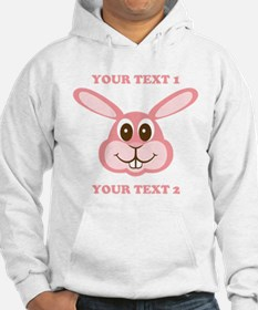 PERSONALIZE Pink Bunny Hoodie