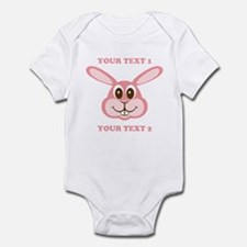 PERSONALIZE Pink Bunny Infant Bodysuit