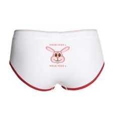 PERSONALIZE Pink Bunny Women's Boy Brief