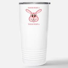 PERSONALIZE Pink Bunny Travel Mug