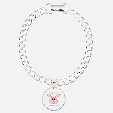 PERSONALIZE Pink Bunny Bracelet