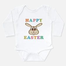 Happy Easter Bunny Long Sleeve Infant Bodysuit