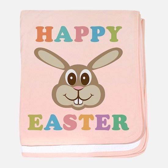 Happy Easter Bunny baby blanket