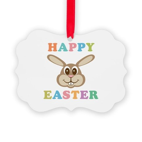 Happy Easter Bunny Picture Ornament