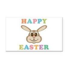 Happy Easter Bunny Rectangle Car Magnet