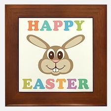Happy Easter Bunny Framed Tile