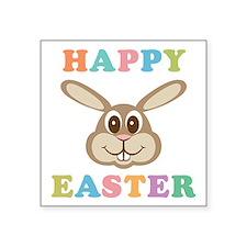 "Happy Easter Bunny Square Sticker 3"" x 3"""