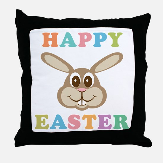 Happy Easter Bunny Throw Pillow