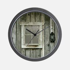 Old wood cabin Wall Clock