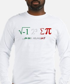 i ate sum pi Long Sleeve T-Shirt