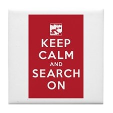 Keep Calm and Search On (Cave Rescue) Tile Coaster