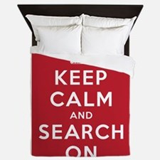 Keep Calm and Search On (Cave Rescue) Queen Duvet