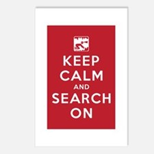 Keep Calm and Search On (Cave Rescue) Postcards (P