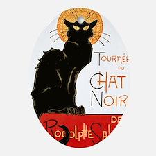 Tournee du Chat Steinlen Black Cat Ornament (Oval)