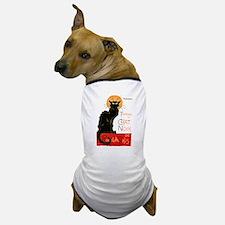 Tournee du Chat Steinlen Black Cat Dog T-Shirt