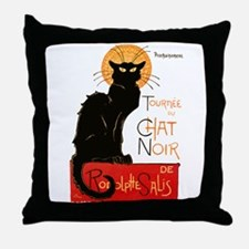 Tournee du Chat Steinlen Black Cat Throw Pillow